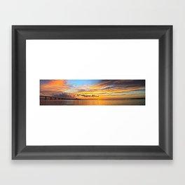 Sunset Pano  Framed Art Print