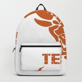 Texas bull bull head horns USA gift Backpack