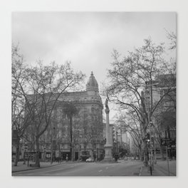Plaza Cagancha - Montevideo Canvas Print