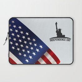 American background with space Laptop Sleeve