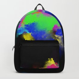 Colour Blast - Modern, Colourful Abstract Backpack
