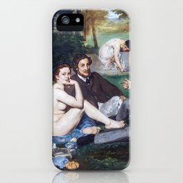 Edouard Manet - Lunch on the Grass iPhone Case