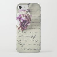 letter iPhone & iPod Cases featuring Love letter by Maria Heyens