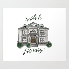 Welch Library Art Print