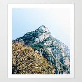 Swiss Mountains. Art Print