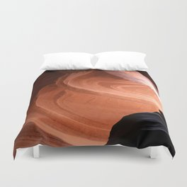 Antelope Canyon Reddish And Blue Tones Duvet Cover