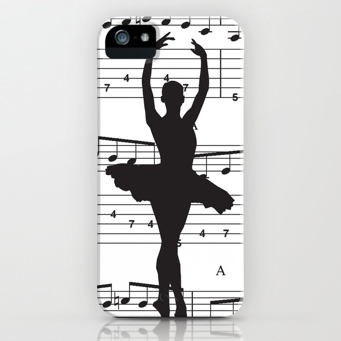 ballerina art, music Notes , girls nursery art, ballerina décor , girls nursery art , iPhone Case