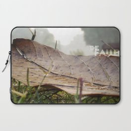 Dew drops on a fallen leaf Laptop Sleeve