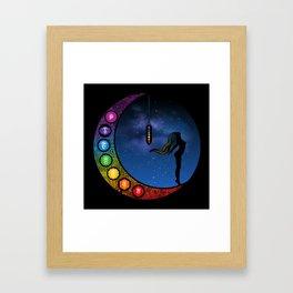 Crescent Moon Chakra - Nightscape Framed Art Print