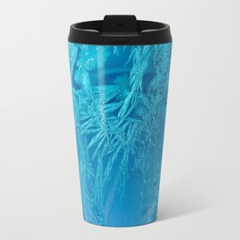 Hoar Frost Ice Crystals Travel Mug
