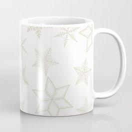 Beige Snowflakes on white background Coffee Mug