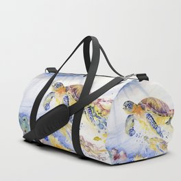 Going Up Sea Turtle Duffle Bag
