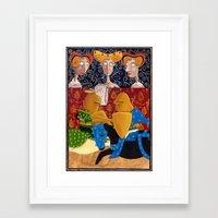 federico babina Framed Art Prints featuring L'Epoca di Federico II - La giostra by Francesca Cosanti