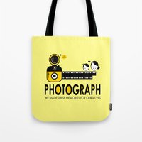 photograph Tote Bags featuring PHOTOGRAPH by Ain Rusli