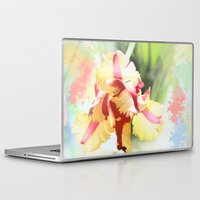 water colour Laptop & iPad Skins featuring Water colour parrot tulip by thea walstra