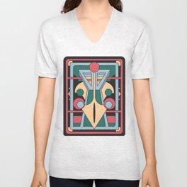 Pavo Totem - Art Deco Peacock Design Unisex V-Neck