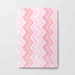 Shades of Pink ZigZag Chevron Metal Print