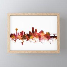 Knoxville Tennessee Skyline Framed Mini Art Print