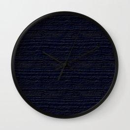 Peacoat Wood Grain Color Accent Wall Clock