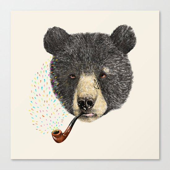 BLACK BEAR SAILOR Canvas Print