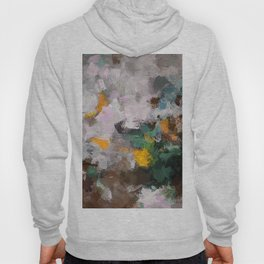 Modern Abstract Art in Brown, Green and Yellow Hoody