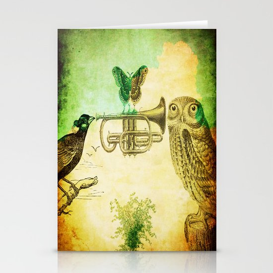 Music of birds Stationery Cards