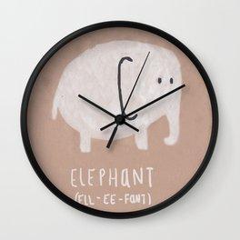 ELL EE FANT Wall Clock