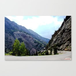 Driving the Spectacular, but Perilous Uncompahgre Gorge, No. 3 of 6 Canvas Print
