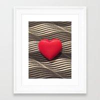valentine Framed Art Prints featuring Valentine by Jose Luis