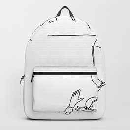 Volleyball Player Striking Ball Continuous Line Backpack