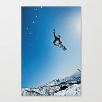 snowboard Canvas Prints featuring SnowBoard ! by MarcioAbe Photography