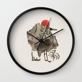 Japanese Crane Wall Clock
