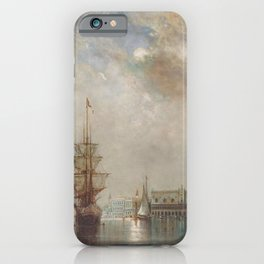 'Venice at Daybreak' landscape painting by Gilbert Munger iPhone Case