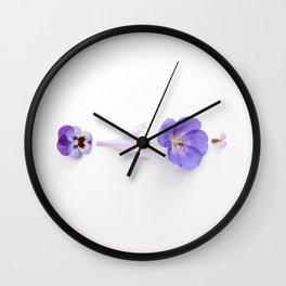 Purple impro Wall Clock