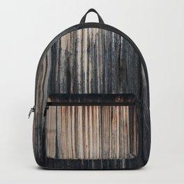 Weathered wood wall Backpack