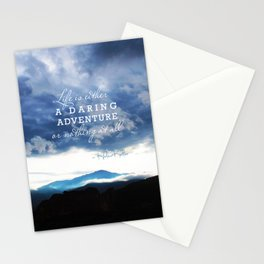 Life is either a daring adventure or nothing at all. - Helen Keller Quote Stationery Cards