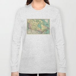 Vintage Map of Canada (1897) Long Sleeve T-shirt
