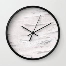 White Birch Wood Wall Clock