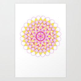 pinkAndyellow Art Print