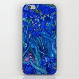 Van Gogh Irises in Indigo iPhone Skin