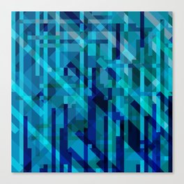 abstract composition in blues Canvas Print