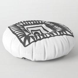 Tribal Print B&W- 02 Floor Pillow