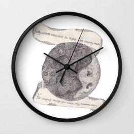 The Secret Moon  Wall Clock