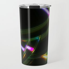 Stack of Compact Discs Abstract 6 Travel Mug