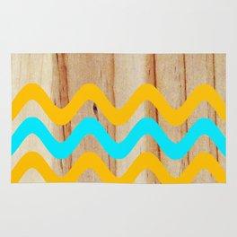 Beach Wave Pine Rug