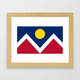 Denver, Colorado city flag - Authentic High Quality Framed Art Print