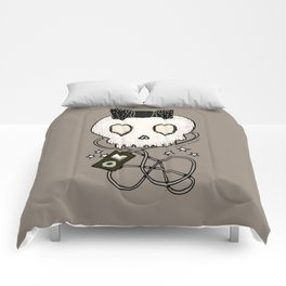 Girly Skull with Black Bow / Die for Music Comforters