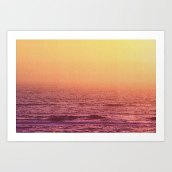 FADING SEA Art Print