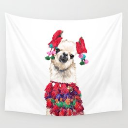 Coolest Llama Wall Tapestry