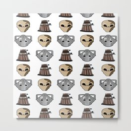 enemies of Gallifrey Metal Print